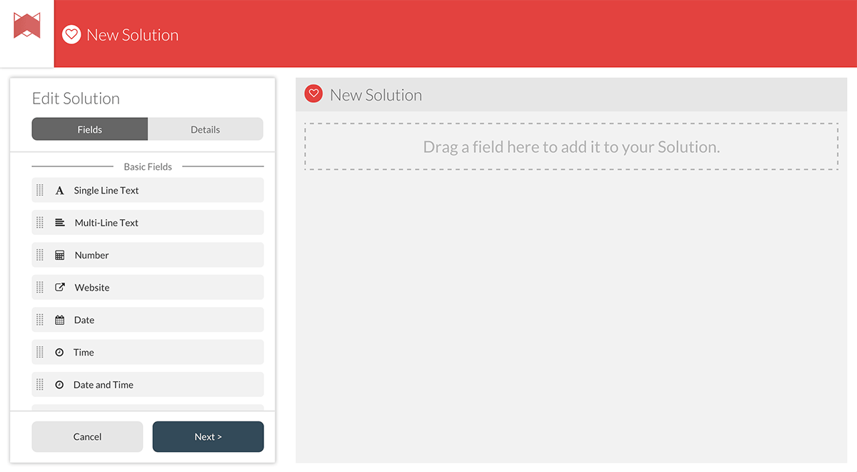 Screenshot of Transpose's 'new solution' screen.