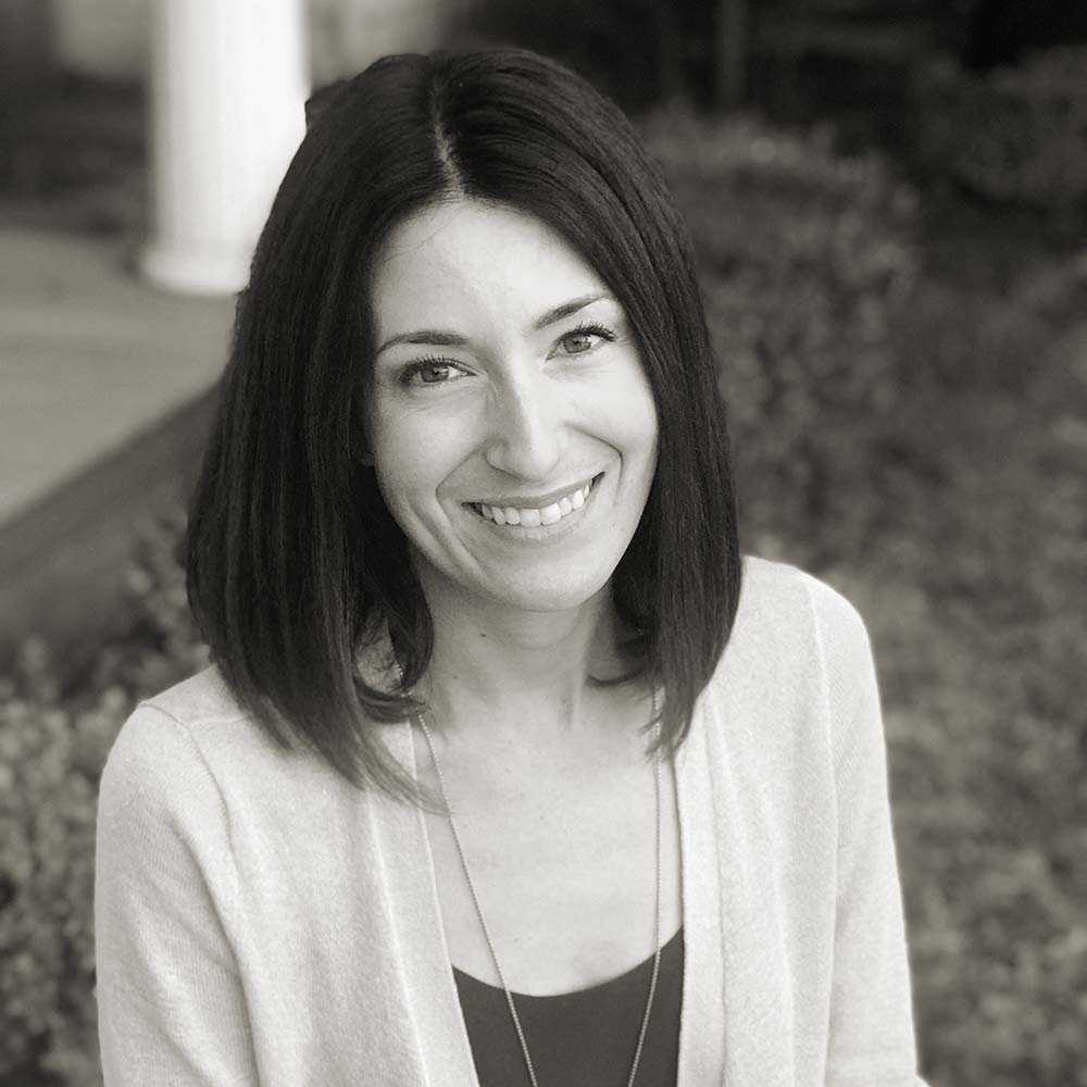 Black and white photo of Ariel Kidwell