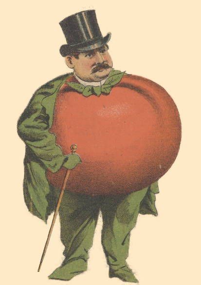 Illustration of a man with a tomato for a torso.